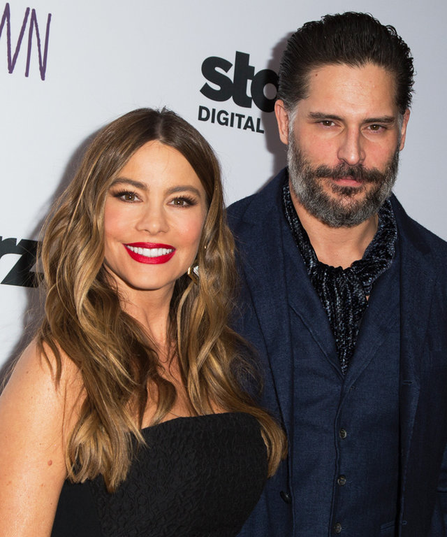 "SANTA MONICA, CA - FEBRUARY 01:  Actors Sofia Vergara (L) and Joe Manganiello attend the premiere of Starz Digital Media's ""Tumbledown"" at Aero Theatre on February 1, 2016 in Santa Monica, California.  (Photo by Vincent Sandoval/FilmMagic)"