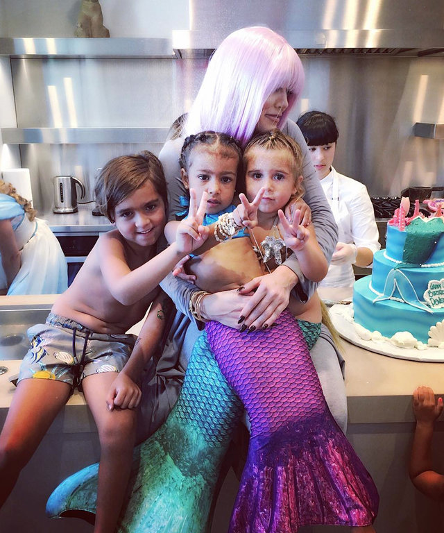 Besties North West and Penelope Disick Enjoy a Cotton Candy Playdate