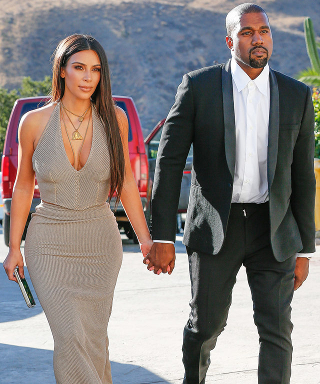 Kim Kardashian West Attends Wedding in Classy Taupe Dress (And North West Is the Cutest Flower Girl!)