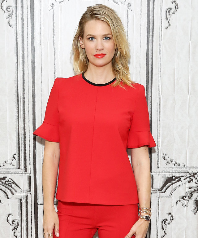 January Jones Couldn't Look Hotter in a Fire Engine Red Ensemble