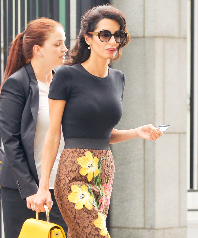 This Is Amal Clooney's Take on Fall Florals