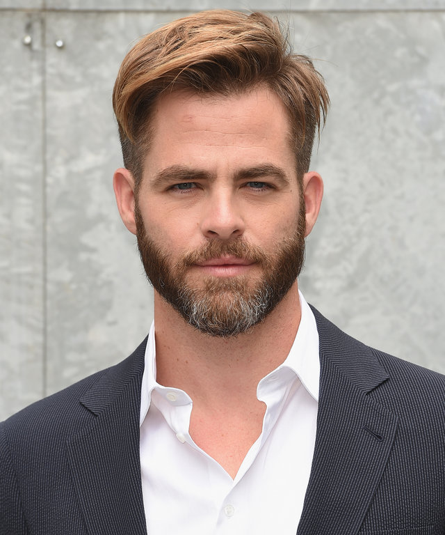 MILAN, ITALY - JUNE 24:  Chris Pine attends Giorgio Armani show during Milan Menswear Fashion Week Spring Summer 2015 on June 24, 2014 in Milan, Italy.  (Photo by Venturelli/WireImage)