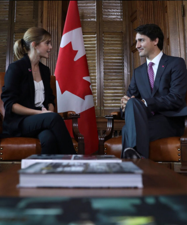 Emma Watson Just Met with Prime Minister Justin Trudeau to Make Your Feminist Dreams Come True