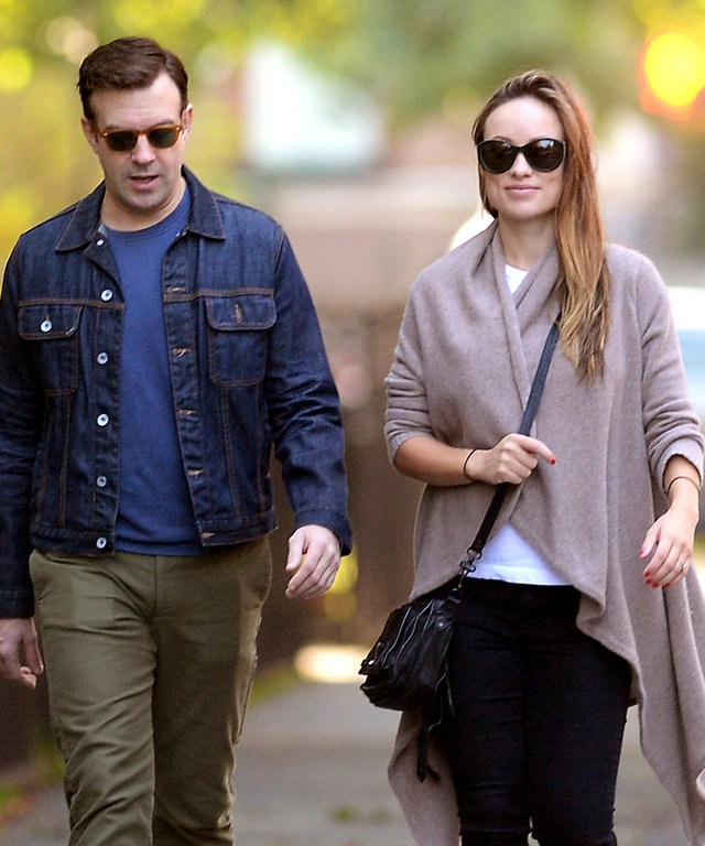 Olivia Wilde and her fiance Jason Sudeikis