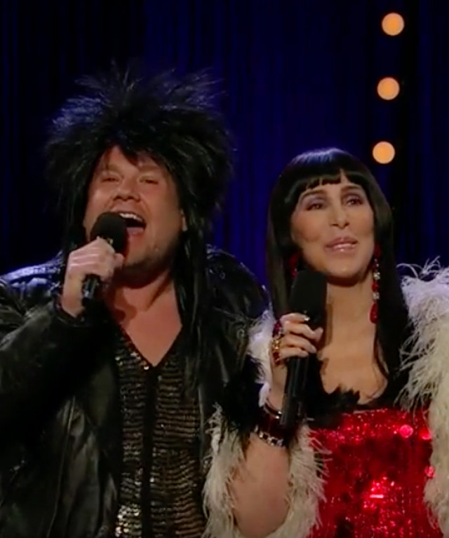 "Cher and James Corden Update ""I Got You Babe"" with Modern Lingo"