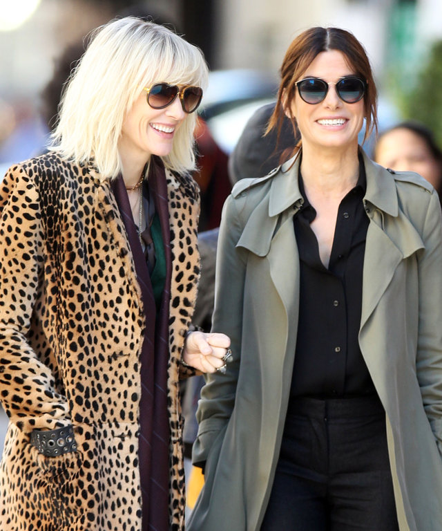 Cate Blanchett and Sandra Bullock Spotted Filming the Much-Anticipated Ocean's 8 in N.Y.C.