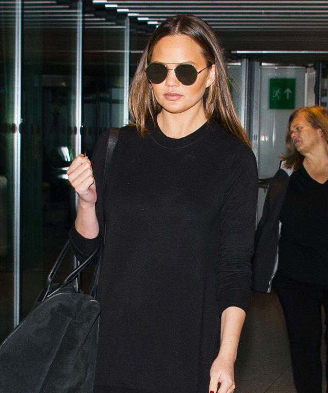 Chrissy Teigen's All-Black London Look Is the Outfit Inspiration You Need This Week