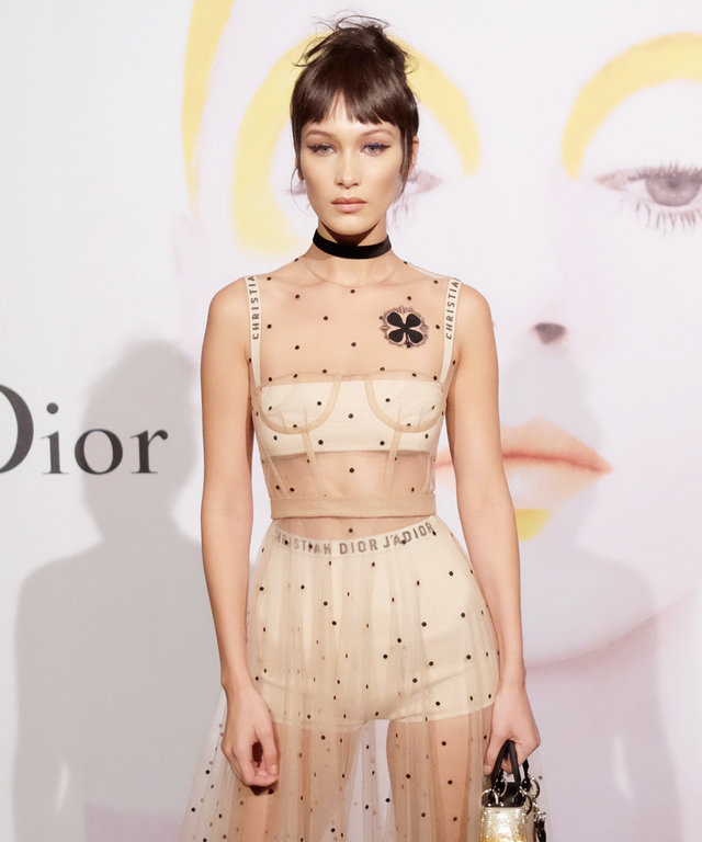 NEW YORK, NY - OCTOBER 25:  Model Bella Hadid attends Dior Beauty celebrates The Art of Color with Peter Philips on October 25, 2016 in New York City.  (Photo by Nicholas Hunt/Getty Images for Dior Beauty)
