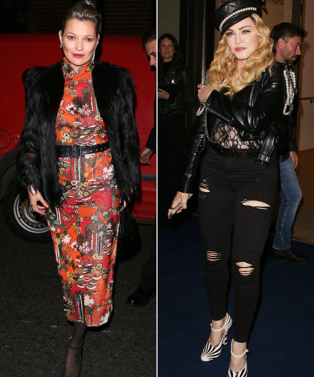 Madonna and Kate Moss Are a Stylish Pair at a Party in London
