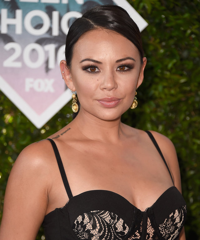 INGLEWOOD, CA - JULY 31:  Actress Janel Parrish attends the Teen Choice Awards 2016 at The Forum on July 31, 2016 in Inglewood, California.  (Photo by Frazer Harrison/Getty Images)