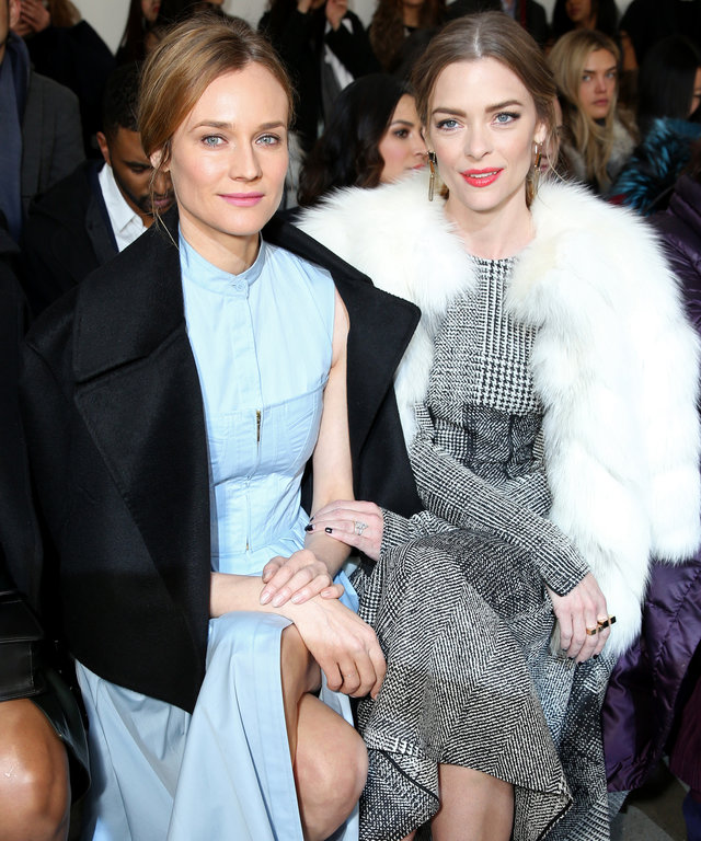 Mandatory Credit: Photo by Will Ragozzino/WWD/REX/Shutterstock (5586244c) Diane Kruger and Jaime King in the front row Jason Wu show, Fall Winter 2016, New York Fashion Week, America - 12 Feb 2016
