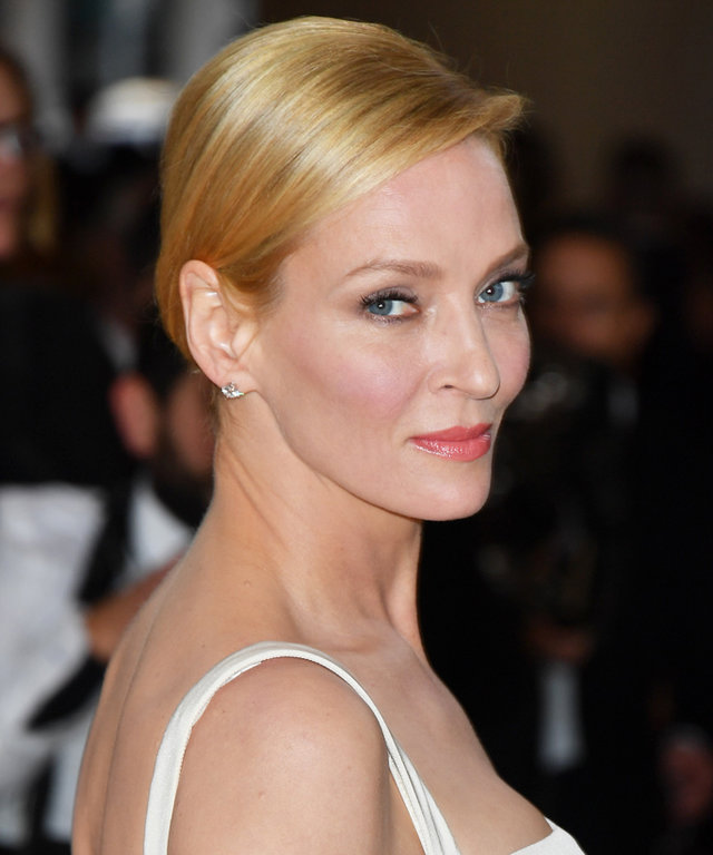 NEW YORK, NY - MAY 02:  Uma Thurman attends the 'Manus x Machina: Fashion in an Age of Technology' Costume Institute Gala at the Metropolitan Museum of Art on May 2, 2016 in New York City.  (Photo by George Pimentel/WireImage)