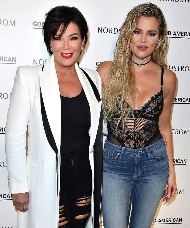Kris Jenner and Khloe Kardashian attend Good American Launch Event at Nordstrom at the Grove on October 18, 2016 in Los Angeles, California.