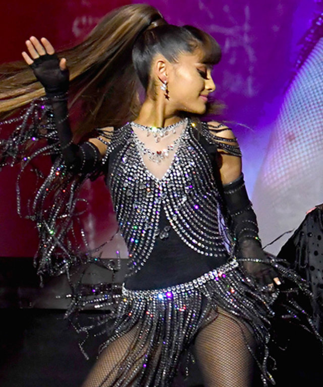 Ariana Grande Looks Amazing in Madonna's Rebel Hearts Tour Costume