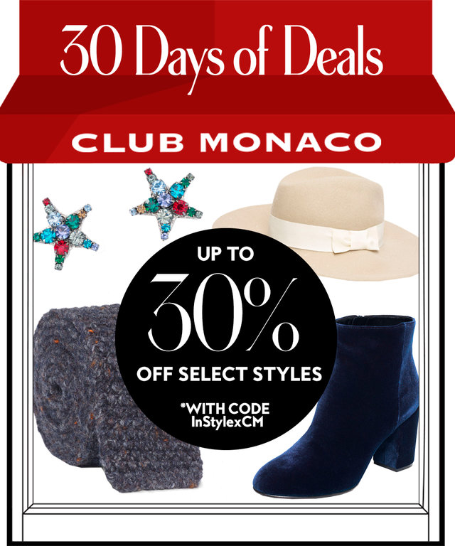 30 Days of Deals: 20% Off at Club Monaco
