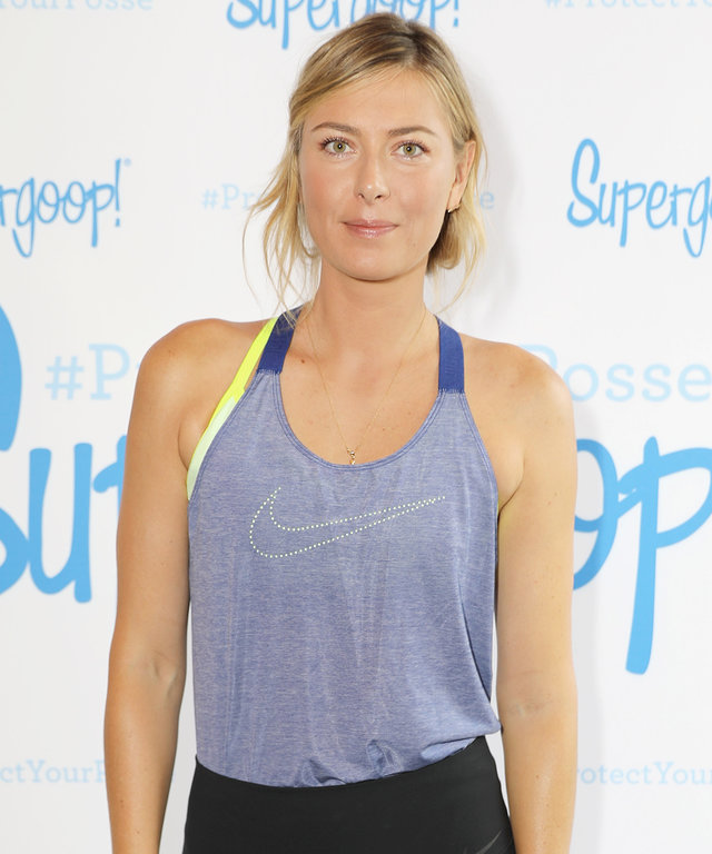 Maria Sharapova on Remembering to Wear Her SPF