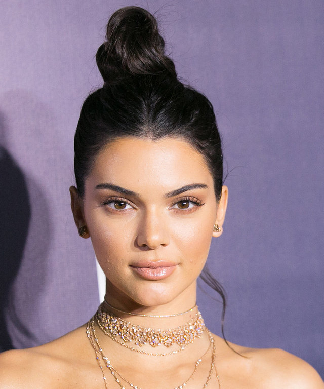 Kendall Jenner Bares it All (Almost) in a Sheer Blouse in Paris