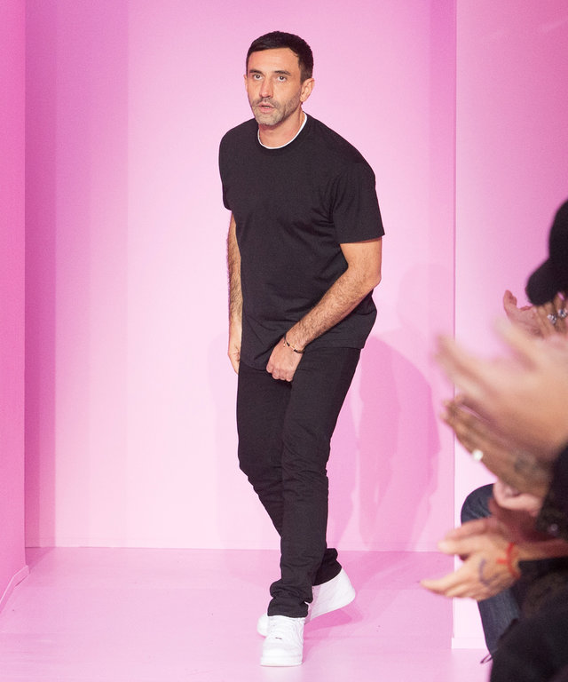 PARIS, FRANCE - JANUARY 22:  Designer Riccardo Tisci walks the runway during the Givenchy Menswear Fall/Winter 2016-2017 show as part of Paris Fashion Week on January 22, 2016 in Paris, France.  (Photo by Dominique Charriau/WireImage)