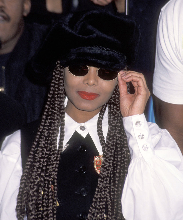 """HOLLYWOOD - MARCH 10:   Singer Janet Jackson attend the Hollywood Walk of Fame Star Ceremony for James """"Jimmy Jam"""" Harris and Terry Lewis on March 10, 1993 at 6363 Hollywood Boulevard in Hollywood, California. (Photo by Ron Galella, Ltd./WireImage)"""