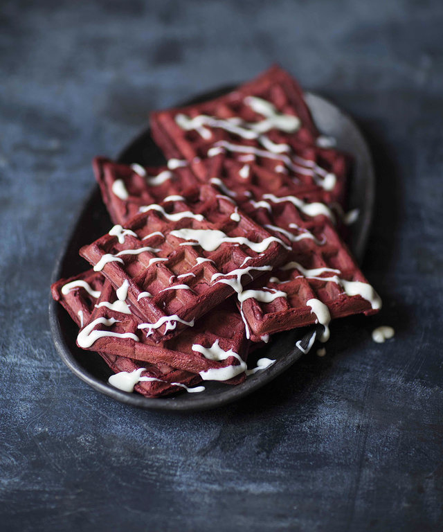 These Red Velvet Waffles Are the Best Way to Start Valentine's Day