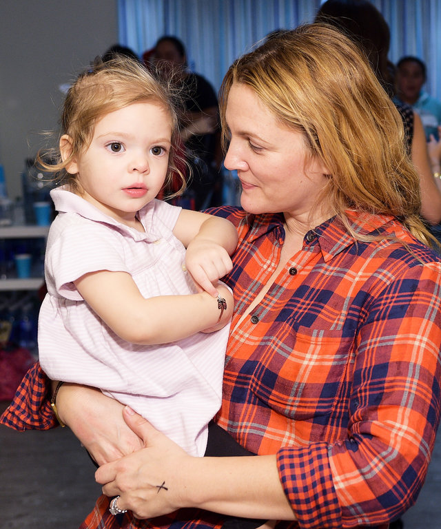 Drew Barrymore's Daughter Stole Mom's High Heels and the Photo Is Adorable