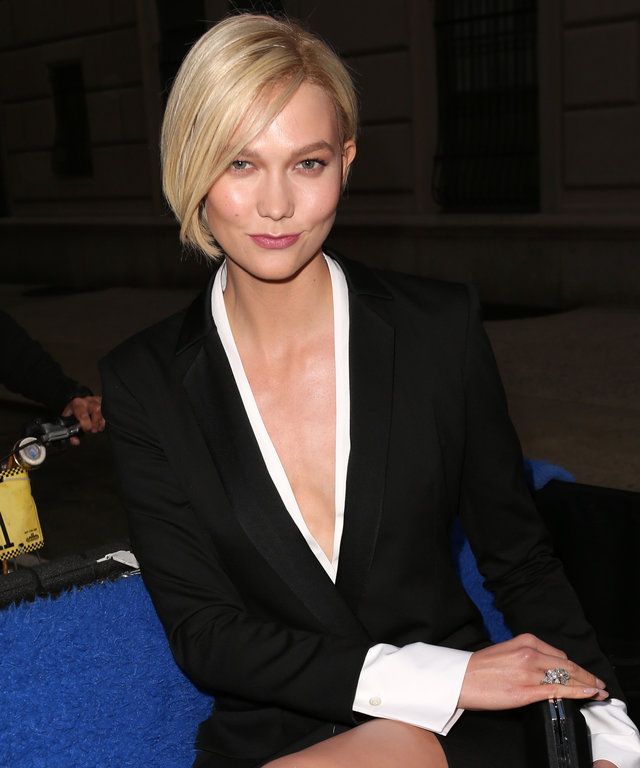 Karlie Kloss takes a pedicab on the way to The Met Costume Institute Gala in NYC