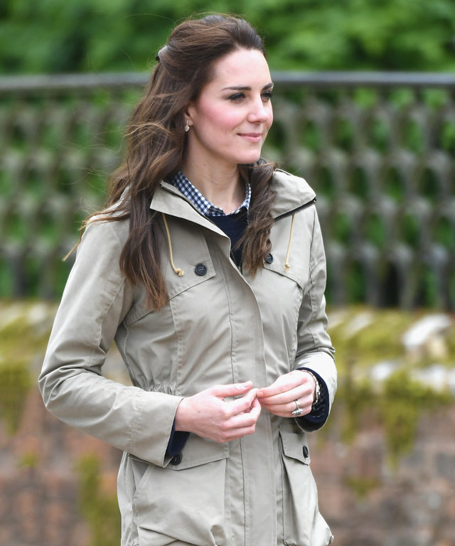 Catherine, Duchess of Cambridge visits Farms for City Children on May 3, 2017 in Arlingham, Gloucestershire. Farms for City Children is a charity which offers children in the UK a chance to live and work on a real farm for a week.