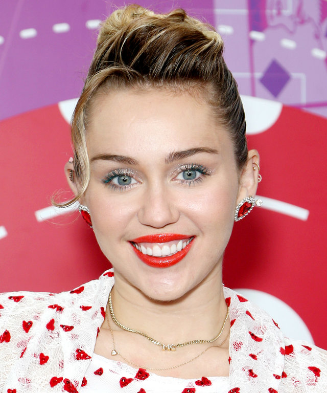 Miley Cyrus attends the 2017 iHeartRadio Music Festival
