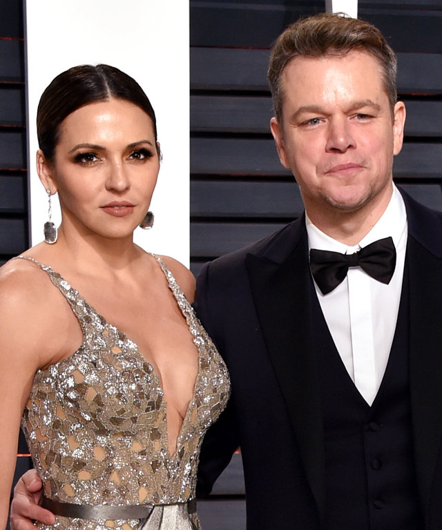 Luciana and Matt Damon Red Carpet -