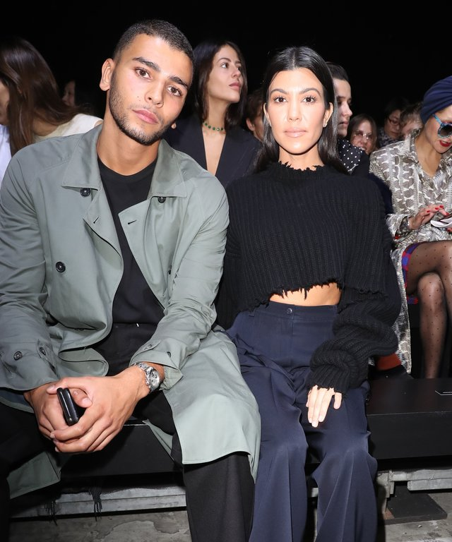 Younes Bendjima and  Kourtney Kardashian attend the Haider Ackermann show as part of the Paris Fashion Week Womenswear Spring/Summer 2018 on September 30, 2017 in Paris, France.