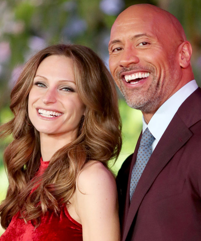 Dwayne the Rock Johnson with Pregnant Wife