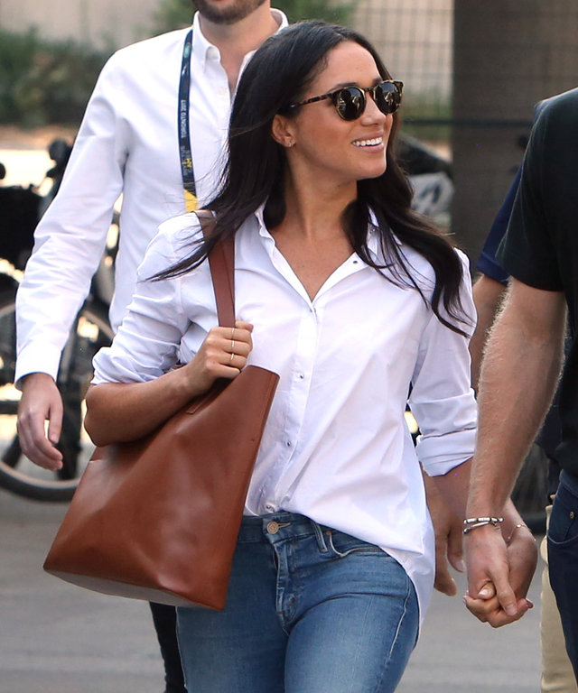 8816d0496b9 This Meghan Markle-Approved Brand Makes the Perfect White Shirt