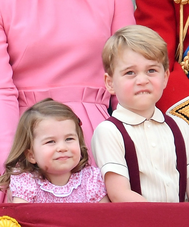 Prince George and Princess Charlotte lead