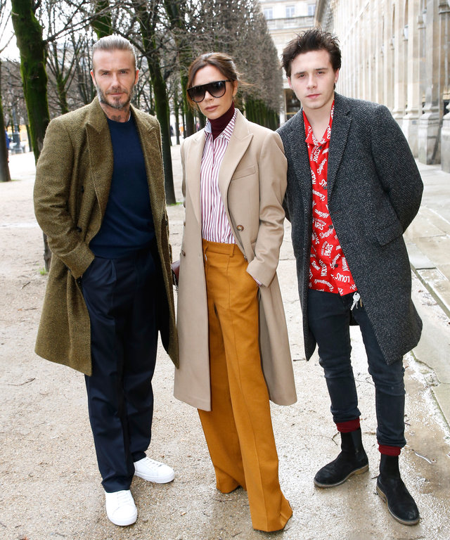 David Beckham, Brooklyn Beckham, and Victoria Beckham lead