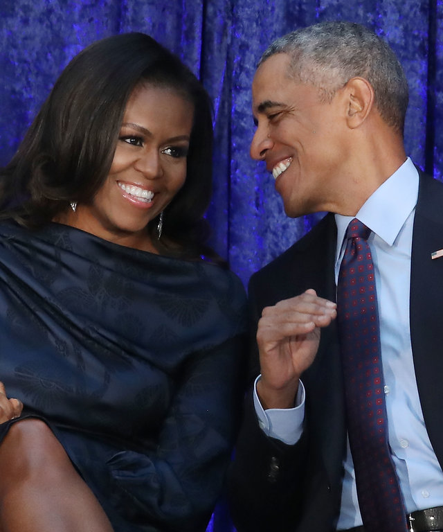 Barack And Michelle Obama Attend Portrait Unveiling At Nat'l Portrait Gallery