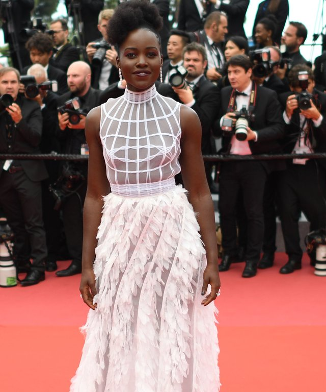 Lupita Nyong'o Cannes Feather Dress