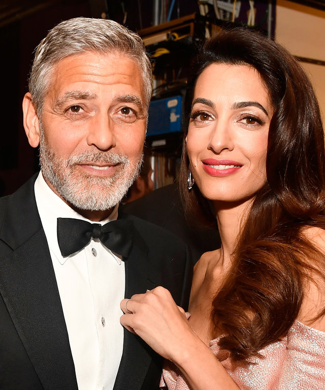 George and Amal Clooney at Tribute to George Clooney, lead