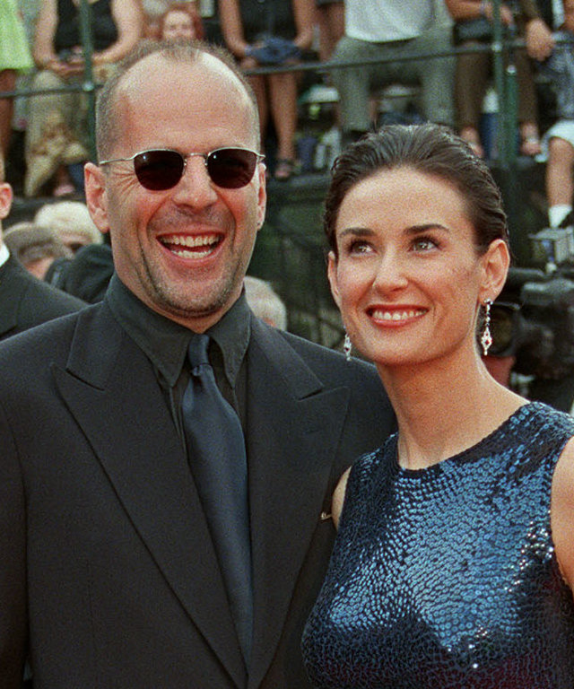 Hollywood actors Demi Moore and husband Bruce Will
