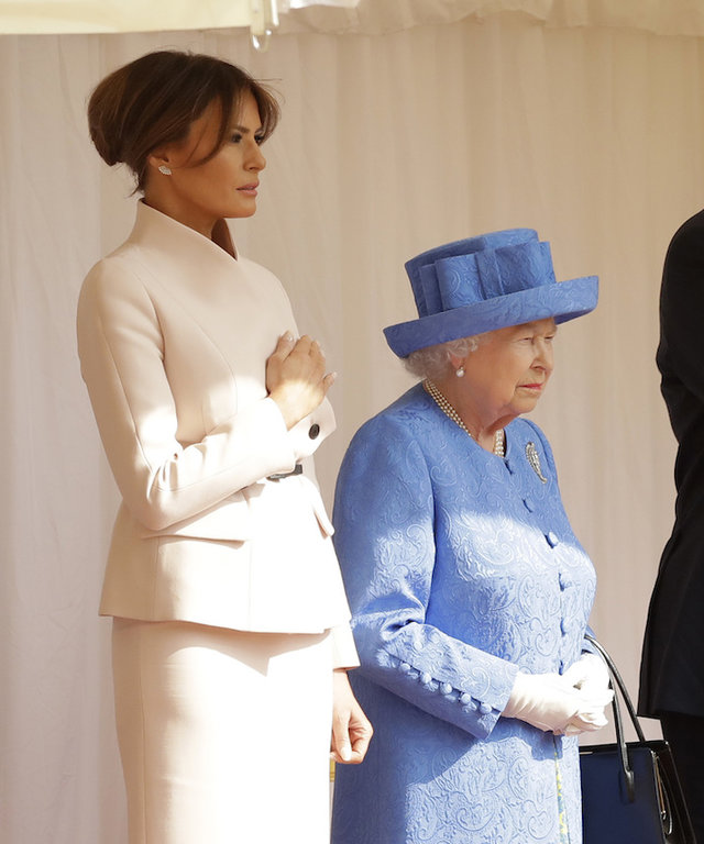 Melania and the queen lead