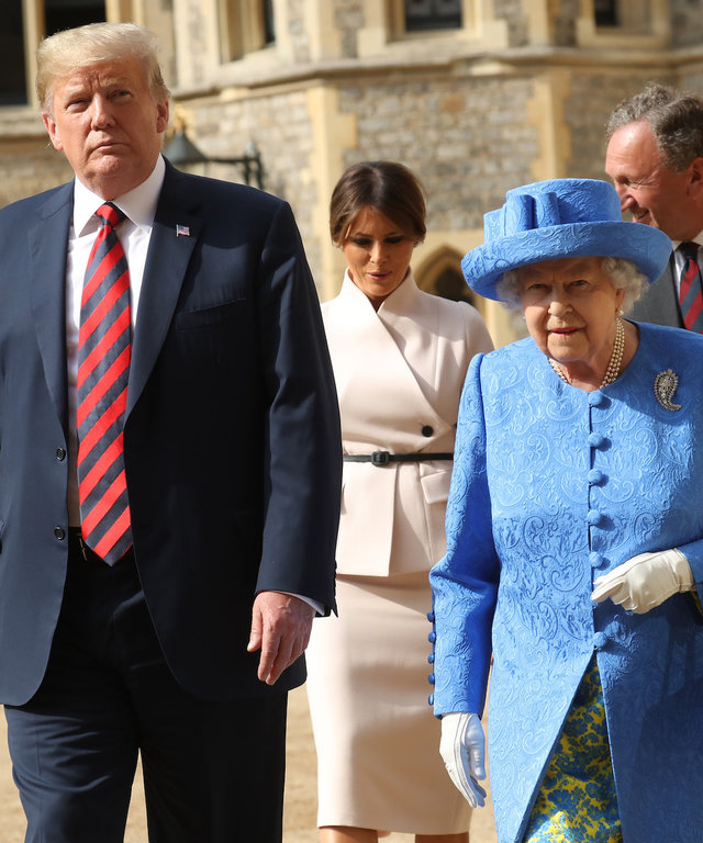 Queen Elizabeth and Trump meeting lead