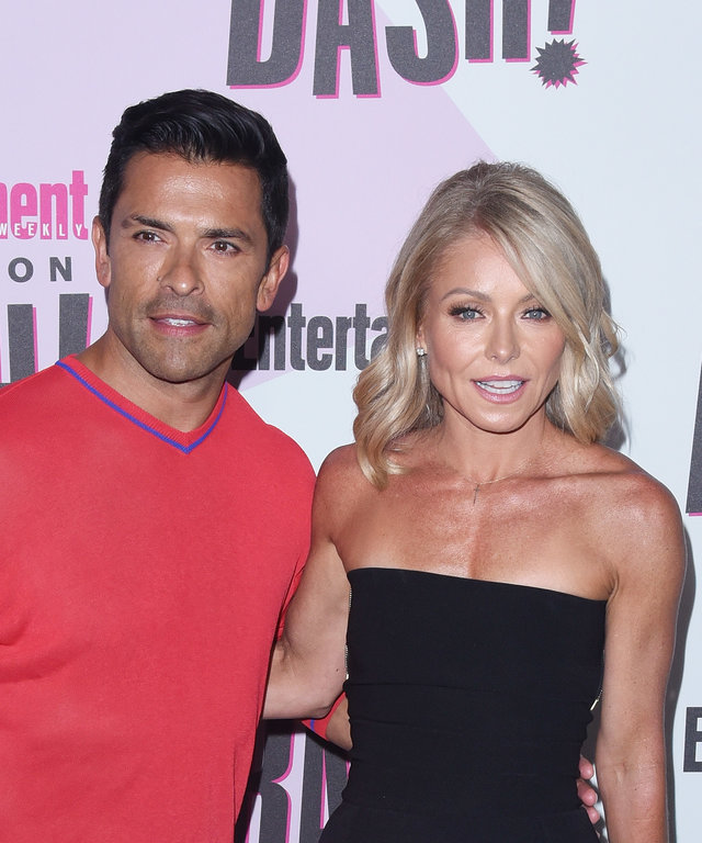 Kelly Ripa Mark Conseulos Comic-Con Celebration