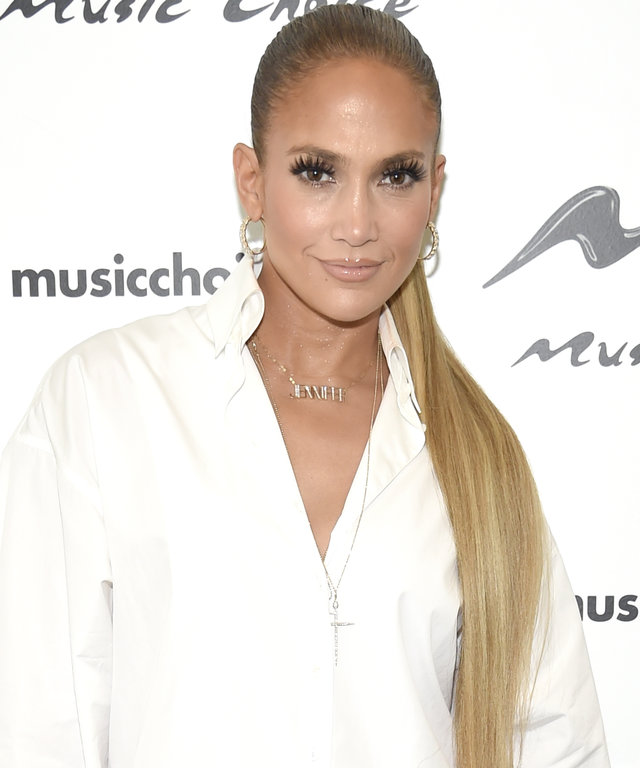 Jennifer Lopez Visits Music Choice