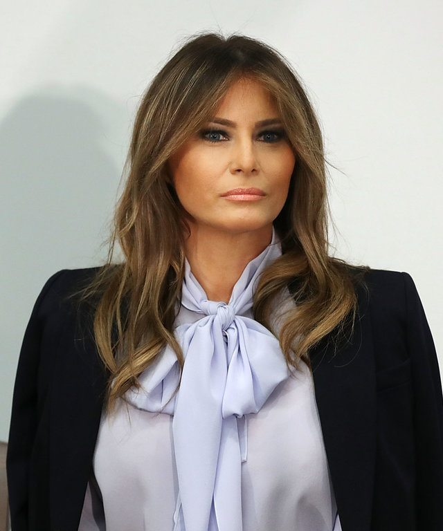 First Lady Melania Trump Attends Cyberbullying Prevention Summit In Rockville, Maryland