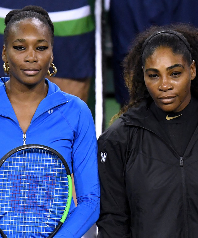 Venus and Serena Williams lead