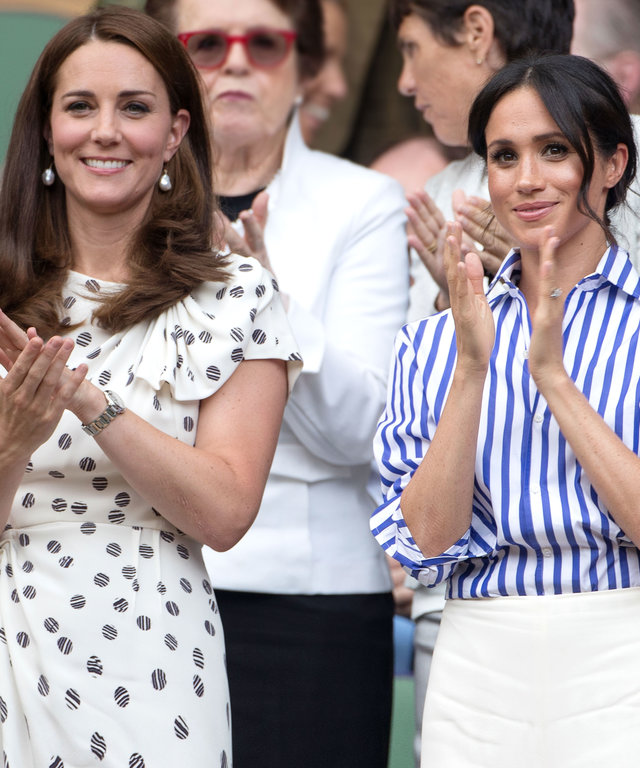 Kate Middleton and Meghan Markle lead