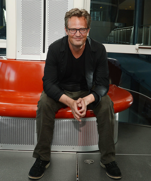 Actor Matthew Perry Rides The High Roller At The LINQ Promenade In Las Vegas