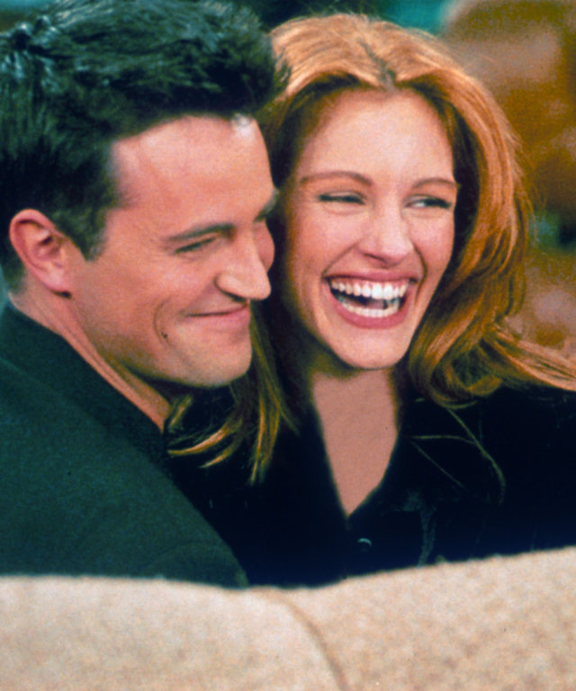 Actor Matthew Perry and actress Julia Roberts...