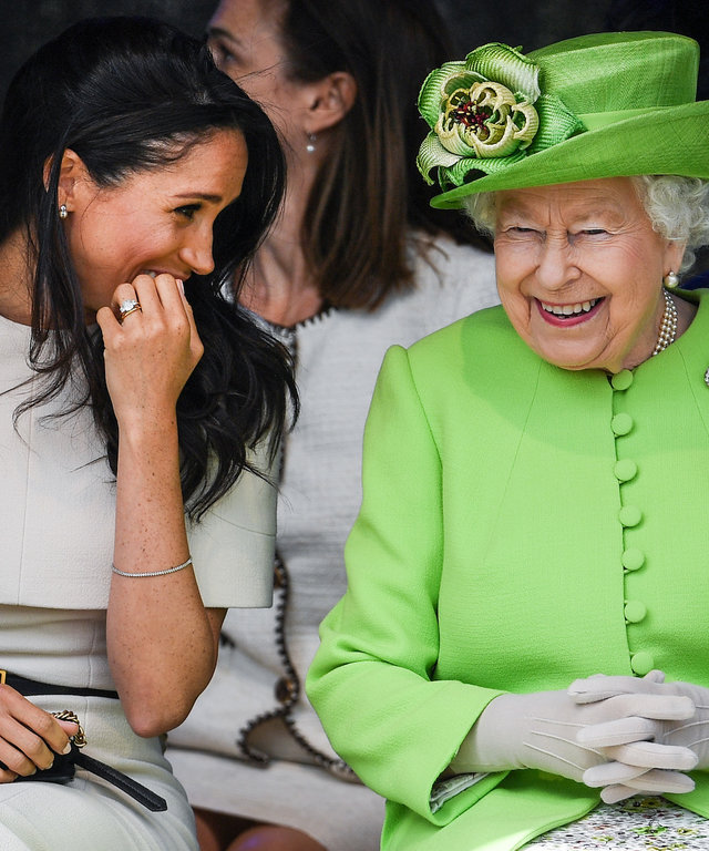 Meghan and Queen Elizabeth lead