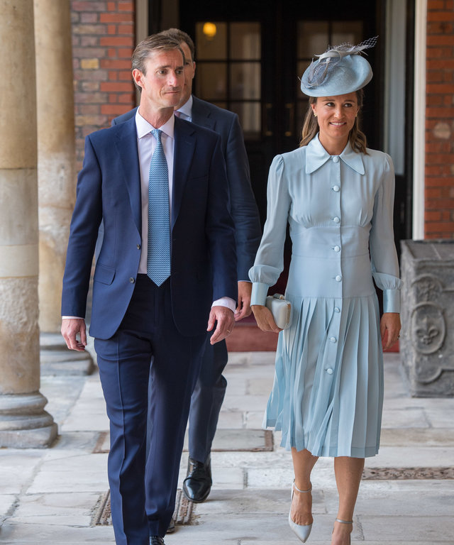 Pippa Middleton James Matthews Prince Louis Christening