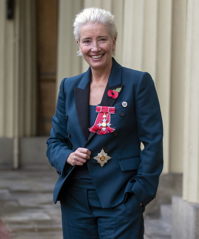 Emma Thompson Investitures At Buckingham Palace